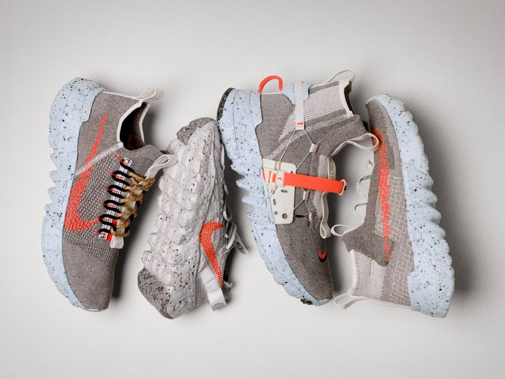 NIke Space Hippie sneaker line - conscious sustainable and vegan sneakers - Photo: Nike