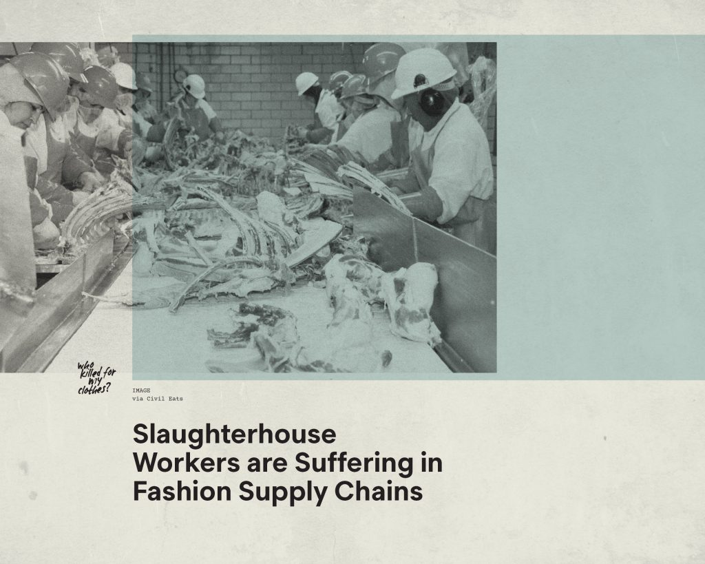 Fashion Revolution Week – Who killed for my clothes? The impact of animal supply chains in fashion on Slaughterhouse Workers – Antagonist